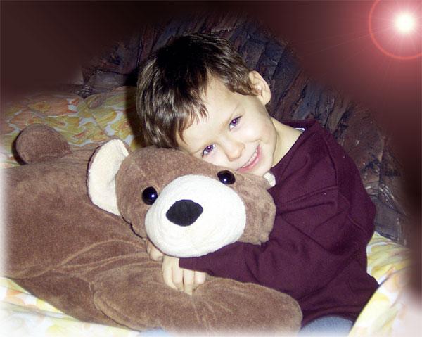 Mein Knuddel-Teddy und ich